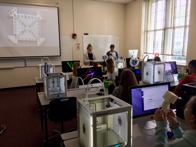 Laura Taalman's students present 3D models. Photo Credit: James Madison University