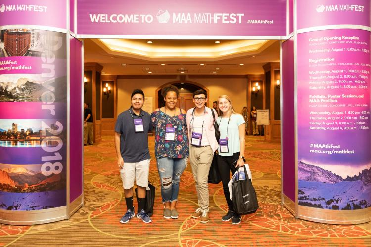 MAA MathFest students